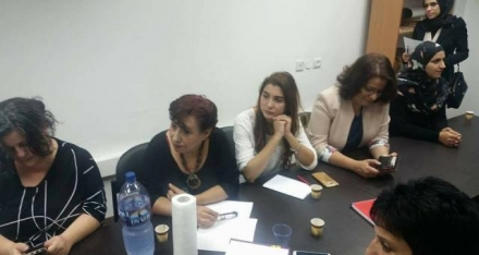Women Against Violence Staff Joins a Coordination Session to Prepare for the International Day for the Elimination of Violence against Women