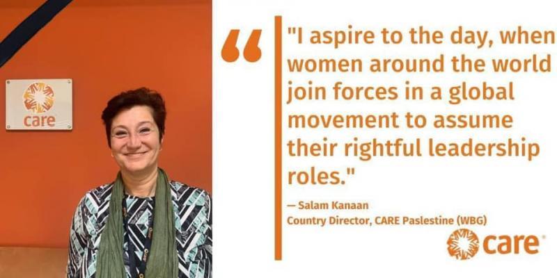 احر التعازي بفقدان السيدة سلام كنعان المديرة الاقليمية لمنظمة كير العالمية في فلسطين